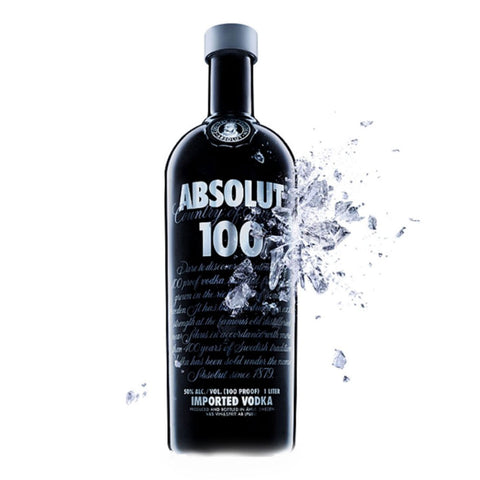 Absolut 100 Premium Vodka - 1000ml Premium Vodka - Drinkka Alcohol Delivery Best Whiskey Wine Gin Beer Vodkas and more for Parties in Makati BGC Fort and Manila | Bevtools Bar and Beverage Tools