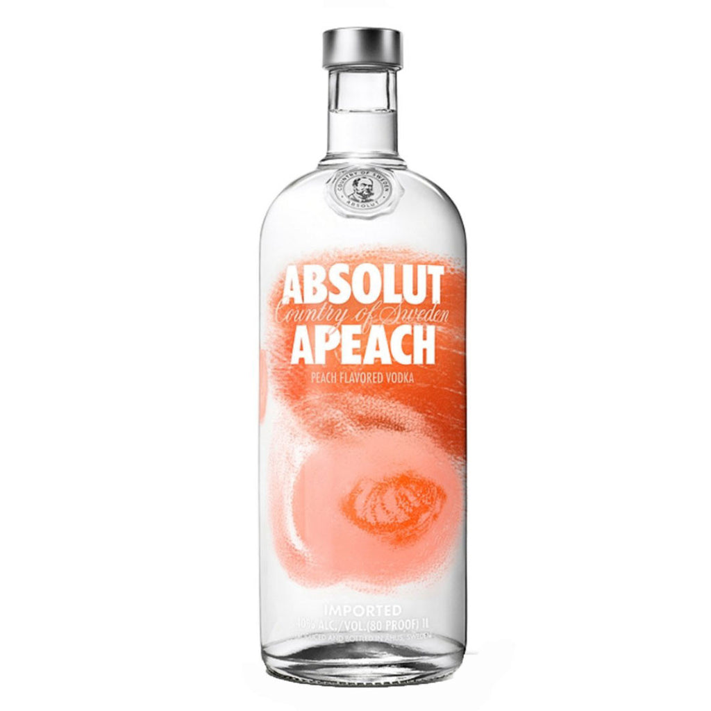 Absolut Apeach Peach Flavored Vodka - 1000ml Flavored Vodka - Drinkka Alcohol Delivery Best Whiskey Wine Gin Beer Vodkas and more for Parties in Makati BGC Fort and Manila | Bevtools Bar and Beverage Tools