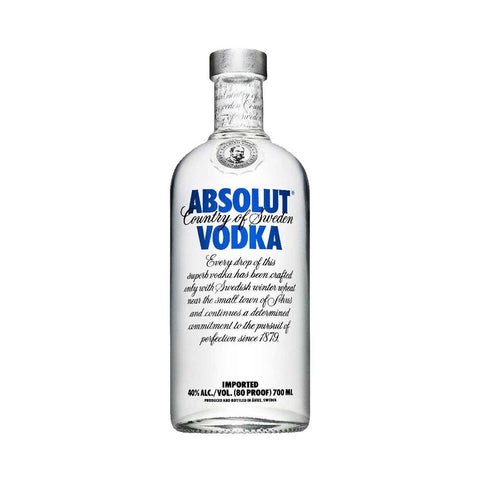 Absolut Vodka - 750ml Premium Vodka - Drinkka Alcohol Delivery Best Whiskey Wine Gin Beer Vodkas and more for Parties in Makati BGC Fort and Manila | Bevtools Bar and Beverage Tools