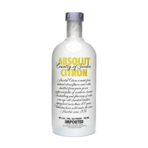 Absolut Citron - 750ml - Bevtools Bar Tools and Alcohol Delivery