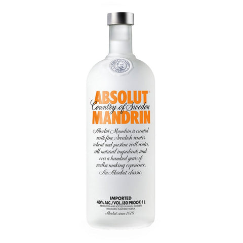 Absolut Mandrin - 1000ml - Bevtools Bar Tools and Alcohol Delivery