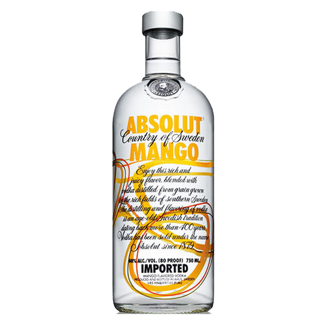 Absolut Mango Flavored Vodka - 750ml Flavored Vodka - Drinkka Alcohol Delivery Best Whiskey Wine Gin Beer Vodkas and more for Parties in Makati BGC Fort and Manila | Bevtools Bar and Beverage Tools