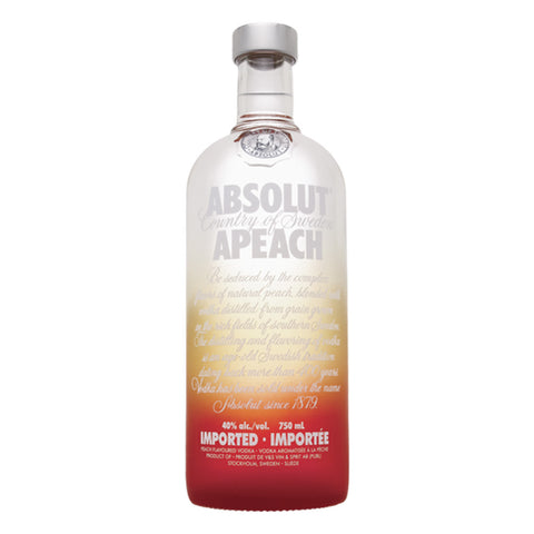 Absolut Apeach Peach Flavored Vodka - 750ml Vodka - Bevtools Bar and Beverage Tools | Alcohol and Liquor Delivery Makati, Metro Manila, Philippines
