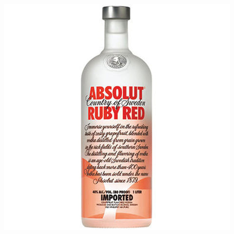 Absolut Ruby Red Grapefruit Flavored Vodka - 1000ml Flavored Vodka - Drinkka Alcohol Delivery Best Whiskey Wine Gin Beer Vodkas and more for Parties in Makati BGC Fort and Manila | Bevtools Bar and Beverage Tools