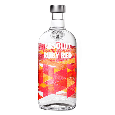 Absolut Ruby Red Grapefruit Flavored Vodka - 750ml Flavored Vodka - Drinkka Alcohol Delivery Best Whiskey Wine Gin Beer Vodkas and more for Parties in Makati BGC Fort and Manila | Bevtools Bar and Beverage Tools