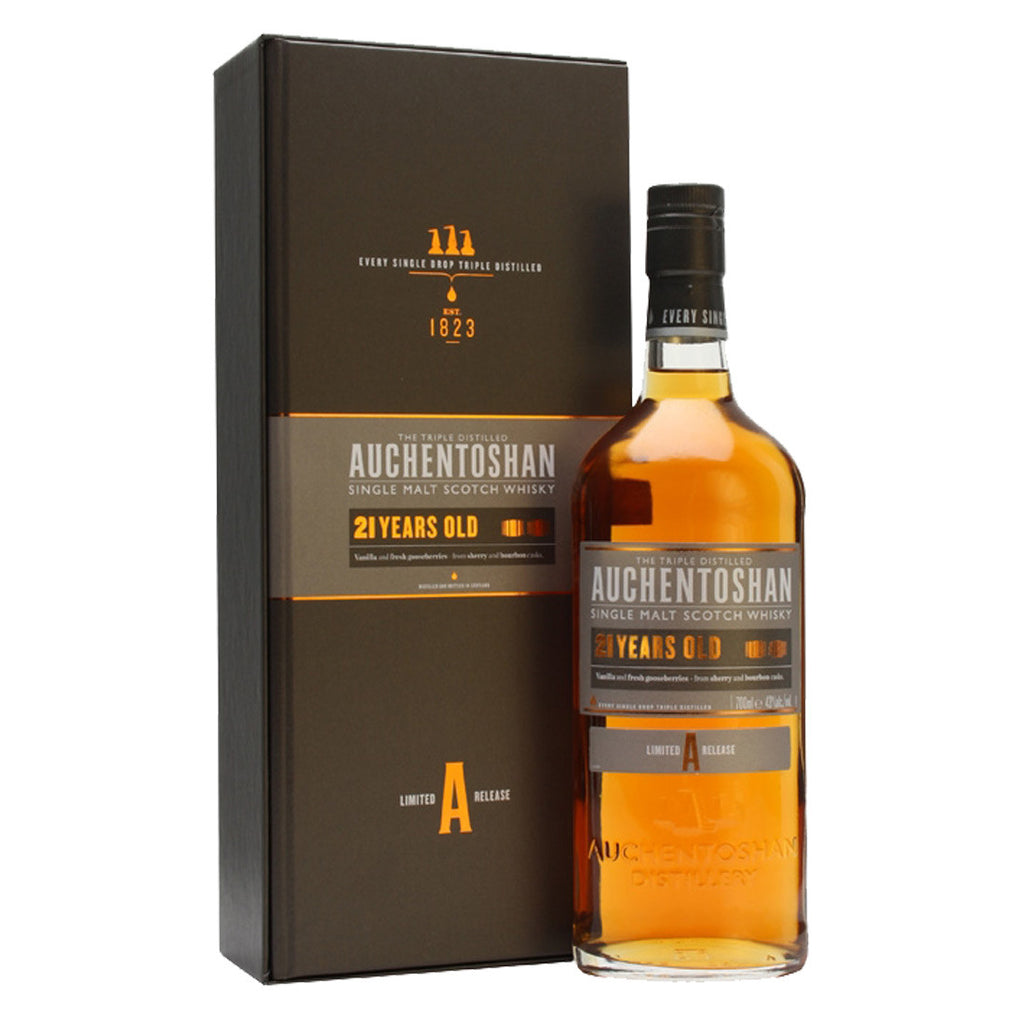 Auchentoshan 21 Years Lowland Single Malt Scotch Whisky - 700ml Whiskey - Drinkka Alcohol Delivery Best Whiskey Wine Gin Beer Vodkas and more for Parties in Makati BGC Fort and Manila | Bevtools Bar and Beverage Tools