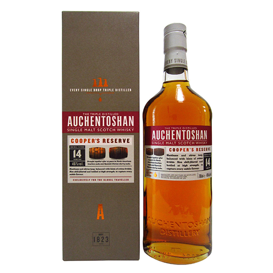 Auchentoshan Coopers Reserve Single Malt Scotch Whisky- 700ml Whiskey - Drinkka Alcohol Delivery Best Whiskey Wine Gin Beer Vodkas and more for Parties in Makati BGC Fort and Manila | Bevtools Bar and Beverage Tools