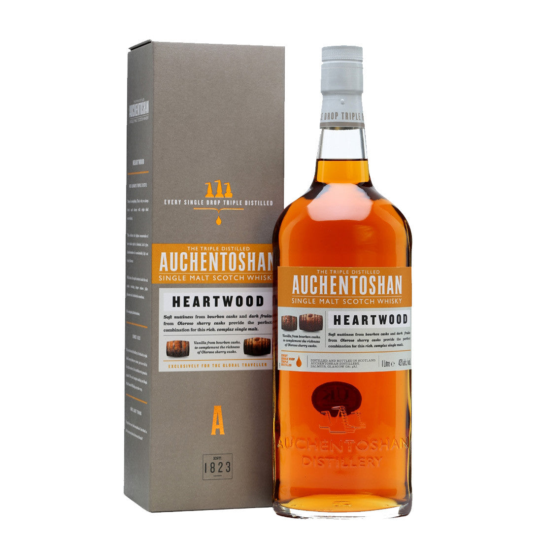 Auchentoshan Heartwood Lowland Single Malt Scotch Whisky - 1000ml Whiskey - Drinkka Alcohol Delivery Best Whiskey Wine Gin Beer Vodkas and more for Parties in Makati BGC Fort and Manila | Bevtools Bar and Beverage Tools