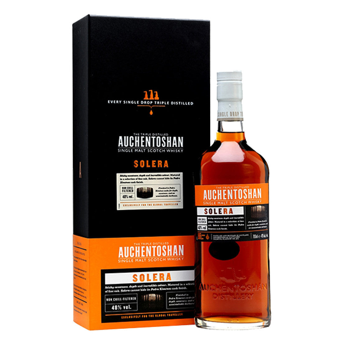 Auchentoshan Solera Single Malt Scotch Whisky- 700ml Whiskey - Drinkka Alcohol Delivery Best Whiskey Wine Gin Beer Vodkas and more for Parties in Makati BGC Fort and Manila | Bevtools Bar and Beverage Tools