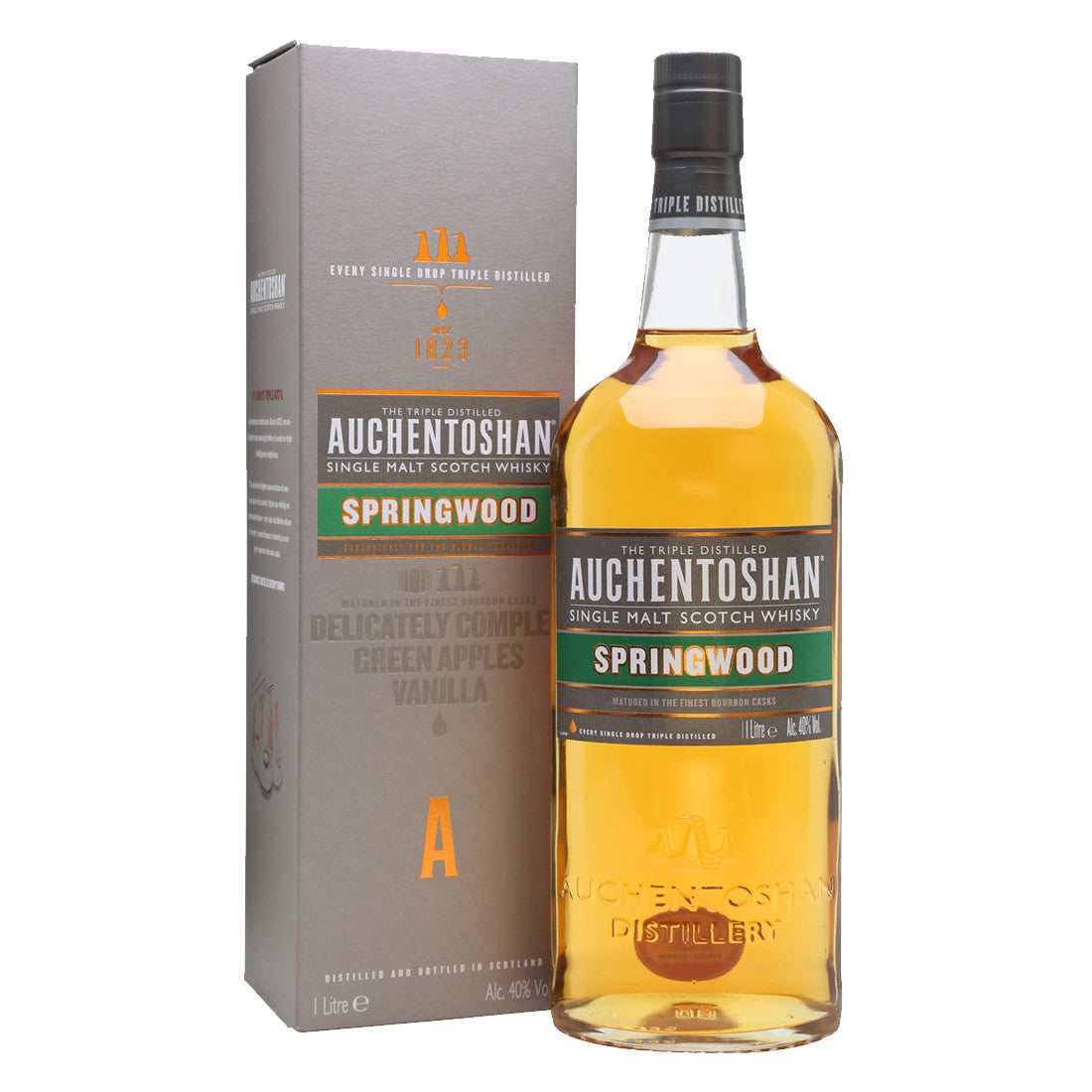Auchentoshan Springwood Lowland Single Malt Scotch Whisky - 1000ml Whiskey - Drinkka Alcohol Delivery Best Whiskey Wine Gin Beer Vodkas and more for Parties in Makati BGC Fort and Manila | Bevtools Bar and Beverage Tools