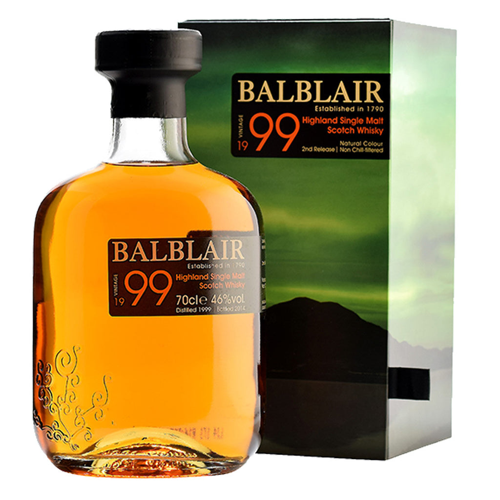 Balblair 1999 Vintage Highland Single Malt Scotch Whisky - 700ml Whiskey - Drinkka Alcohol Delivery Best Whiskey Wine Gin Beer Vodkas and more for Parties in Makati BGC Fort and Manila | Bevtools Bar and Beverage Tools