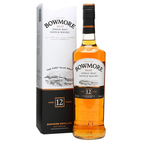 Bowmore 12 Years Islay Single Malt Scotch Whisky - 700ml Whiskey - Drinkka Alcohol Delivery Best Whiskey Wine Gin Beer Vodkas and more for Parties in Makati BGC Fort and Manila | Bevtools Bar and Beverage Tools