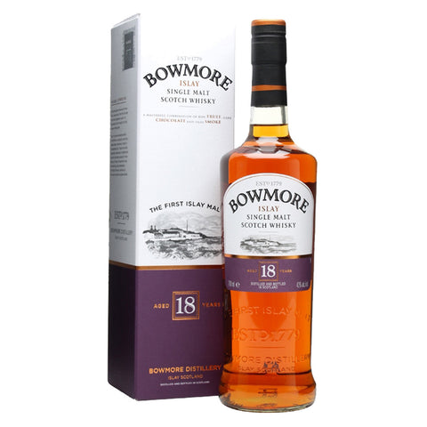 Bowmore 18 Years Islay Single Malt Scotch Whisky - 700ml Whiskey - Drinkka Alcohol Delivery Best Whiskey Wine Gin Beer Vodkas and more for Parties in Makati BGC Fort and Manila | Bevtools Bar and Beverage Tools