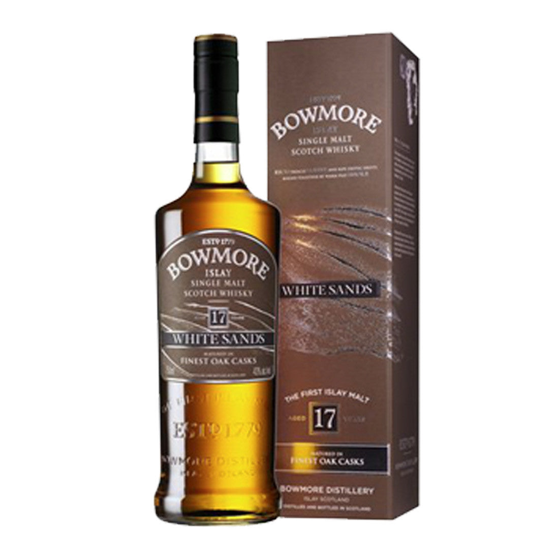 Bowmore 17 Years White Sands Islay Single Malt Scotch Whisky - 700ml Whiskey - Drinkka Alcohol Delivery Best Whiskey Wine Gin Beer Vodkas and more for Parties in Makati BGC Fort and Manila | Bevtools Bar and Beverage Tools
