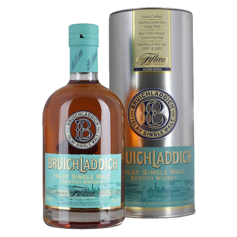 Bruichladdich 15 Years Islay Single Malt Scotch Whisky - 700ml Whiskey - Drinkka Alcohol Delivery Best Whiskey Wine Gin Beer Vodkas and more for Parties in Makati BGC Fort and Manila | Bevtools Bar and Beverage Tools