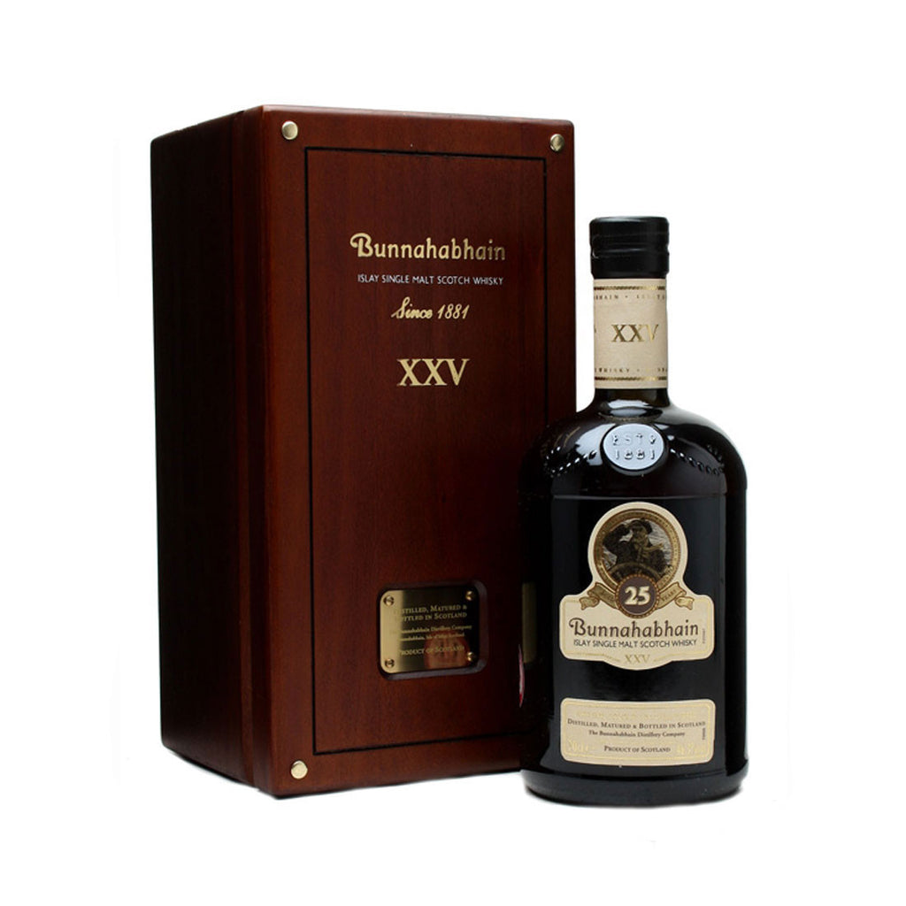 Bunnahabhain 25 Years Islay Single Malt Scotch Whisky - 700ml Whiskey - Drinkka Alcohol Delivery Best Whiskey Wine Gin Beer Vodkas and more for Parties in Makati BGC Fort and Manila | Bevtools Bar and Beverage Tools
