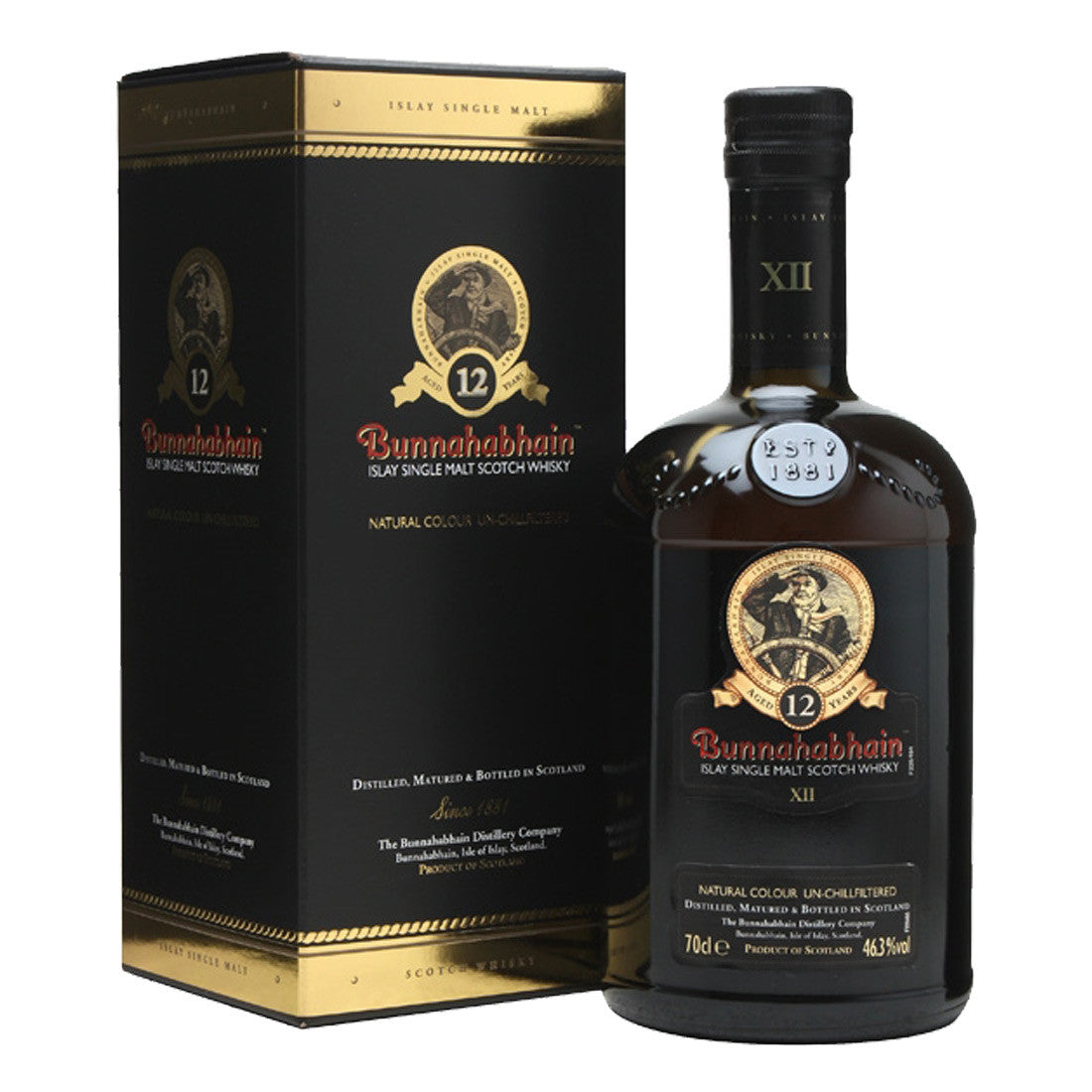 Bunnahabhain 12 Years Unchillfiltered Islay Single Malt Scotch Whisky - 700ml Whiskey - Drinkka Alcohol Delivery Best Whiskey Gin Beer Vodkas and more in Makati and Manila | Bevtools Bar and Beverage Tools