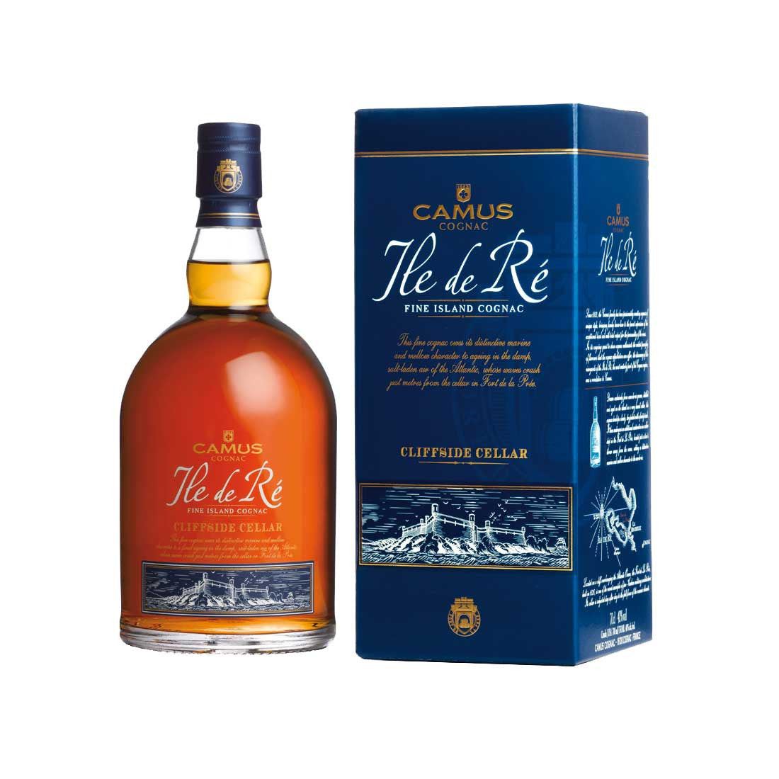 Camus Ile De Re Cliffside Cellar Cognac - 700ml Cognac & Brandy - Drinkka Alcohol Delivery Best Whiskey Wine Gin Beer Vodkas and more for Parties in Makati BGC Fort and Manila | Bevtools Bar and Beverage Tools