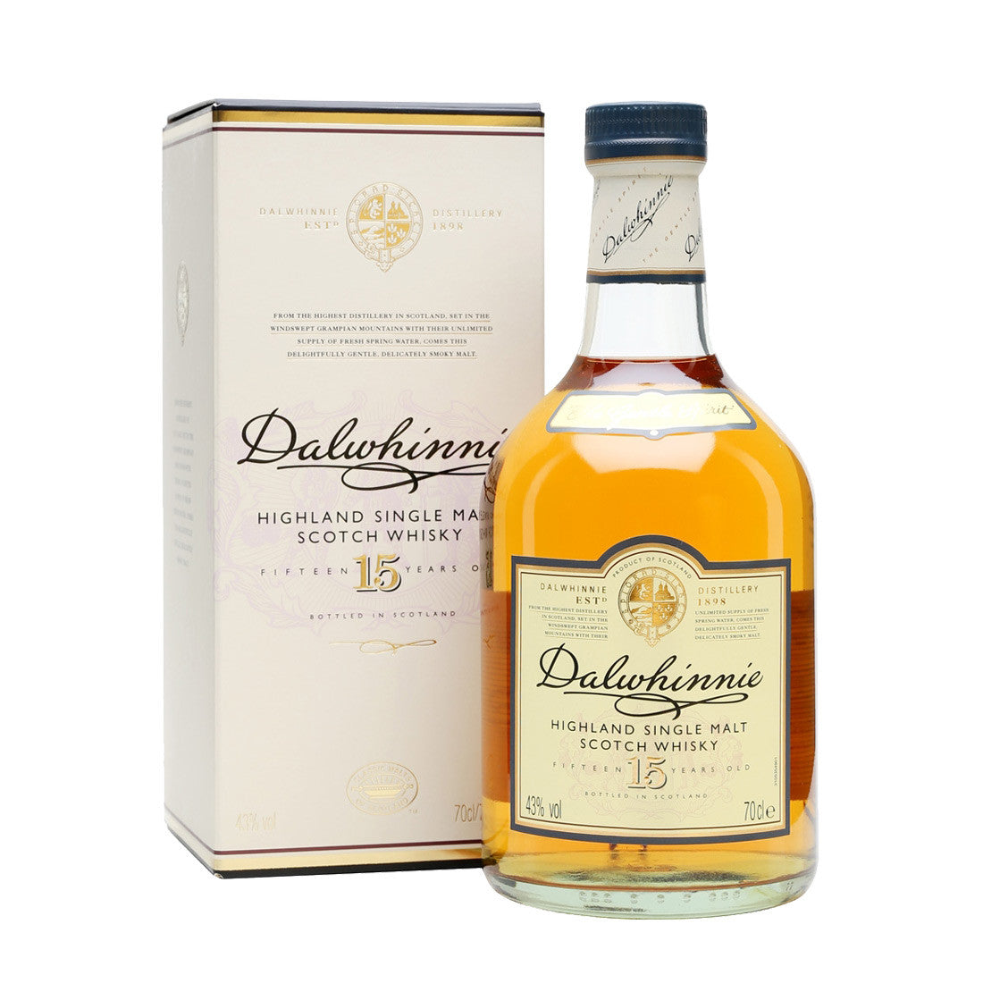 Dalwhinnie 15 Years Speyside Single Malt Scotch Whisky - 700ml Whiskey - Drinkka Alcohol Delivery Best Whiskey Wine Gin Beer Vodkas and more for Parties in Makati BGC Fort and Manila | Bevtools Bar and Beverage Tools