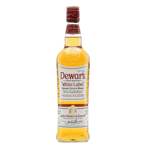 Dewar's White Label Blended Scotch Whisky - 750ml Whiskey - Drinkka Alcohol Delivery Best Whiskey Wine Gin Beer Vodkas and more for Parties in Makati BGC Fort and Manila | Bevtools Bar and Beverage Tools