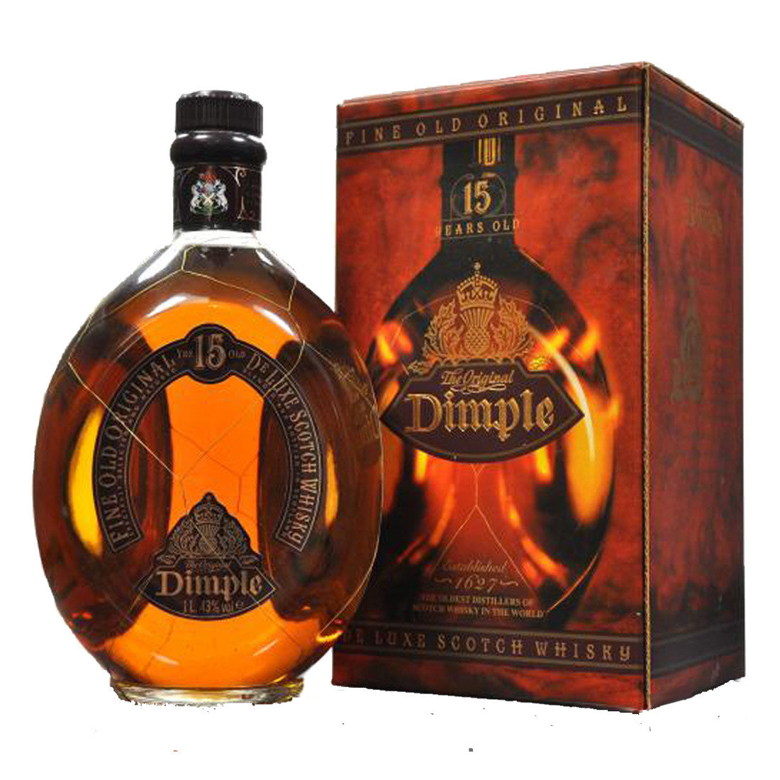 Dimple 15 Years Blended Scotch Whisky - 1000ml Whiskey - Drinkka Alcohol Delivery Best Whiskey Wine Gin Beer Vodkas and more for Parties in Makati BGC Fort and Manila | Bevtools Bar and Beverage Tools