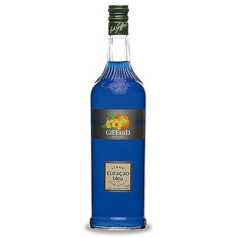 Giffard Blue Curacao (Bleu Curacao) Syrup - 1000ml Berry Liqueur - Drinkka Alcohol Delivery Best Whiskey Wine Gin Beer Vodkas and more for Parties in Makati BGC Fort and Manila | Bevtools Bar and Beverage Tools