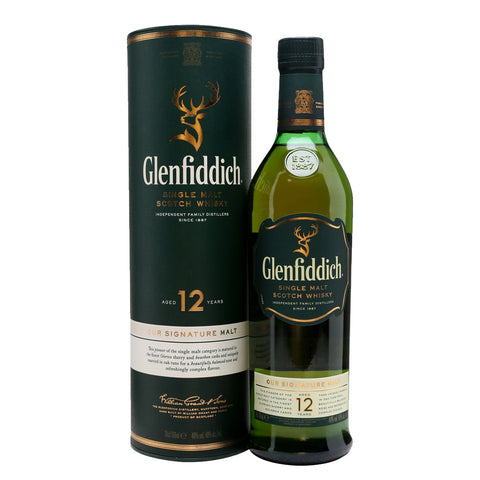 Glenfiddich 12 Years Speyside Single Malt Scotch Whisky - 750ml Whiskey - Drinkka Alcohol Delivery Best Whiskey Wine Gin Beer Vodkas and more for Parties in Makati BGC Fort and Manila | Bevtools Bar and Beverage Tools