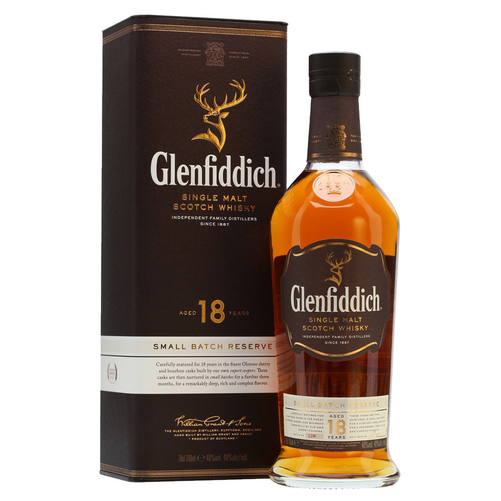 Glenfiddich 18 Years Speyside Single Malt Scotch Whisky - 750ml Whiskey - Drinkka Alcohol Delivery Best Whiskey Wine Gin Beer Vodkas and more for Parties in Makati BGC Fort and Manila | Bevtools Bar and Beverage Tools