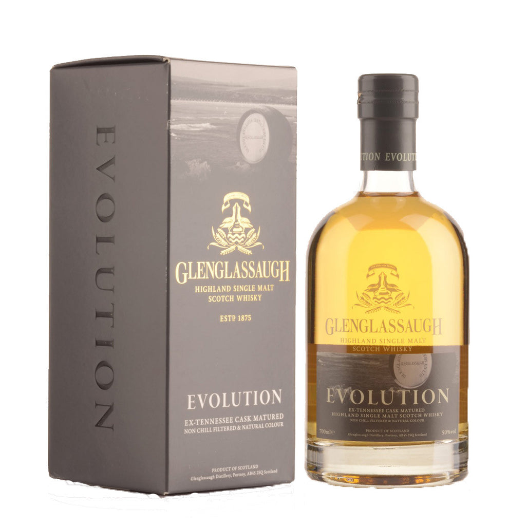 Glenglassaugh Evolution Highland Single Malt Scotch Whisky - 700ml Whiskey - Drinkka Alcohol Delivery Best Whiskey Wine Gin Beer Vodkas and more for Parties in Makati BGC Fort and Manila | Bevtools Bar and Beverage Tools