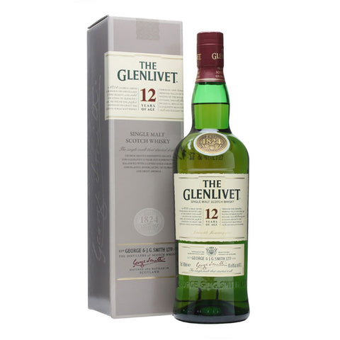 Glenlivet 12 Years Speyside Single Malt Scotch Whisky - 750ml Whiskey - Drinkka Alcohol Delivery Best Whiskey Wine Gin Beer Vodkas and more for Parties in Makati BGC Fort and Manila | Bevtools Bar and Beverage Tools