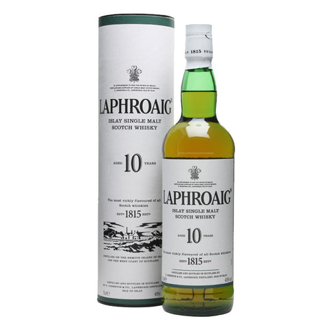 Laphroaig 10 Years Islay Single Malt Scotch Whisky - 1000ml Whiskey - Drinkka Alcohol Delivery Best Whiskey Wine Gin Beer Vodkas and more for Parties in Makati BGC Fort and Manila | Bevtools Bar and Beverage Tools