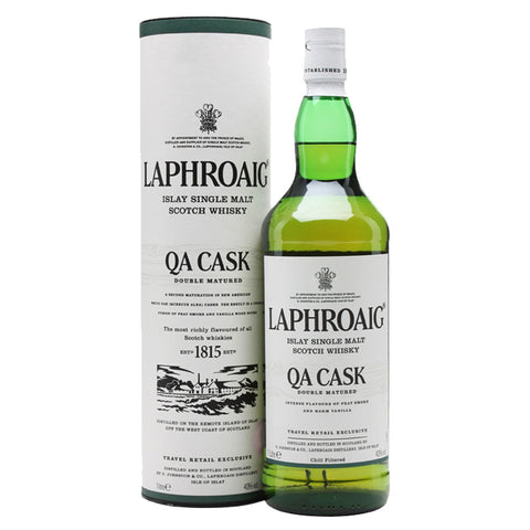 Laphroaig QA Cask Islay Single Malt Scotch Whisky - 1000ml Whiskey - Drinkka Alcohol Delivery Best Whiskey Wine Gin Beer Vodkas and more for Parties in Makati BGC Fort and Manila | Bevtools Bar and Beverage Tools