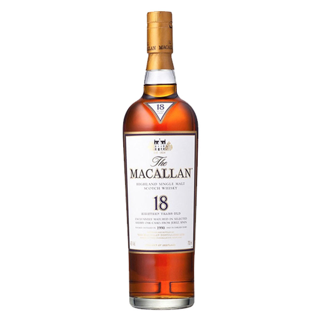 Macallan 18 Years Speyside Single Malt Scotch Whisky - 700ml Whiskey - Drinkka Alcohol Delivery Best Whiskey Wine Gin Beer Vodkas and more for Parties in Makati BGC Fort and Manila | Bevtools Bar and Beverage Tools