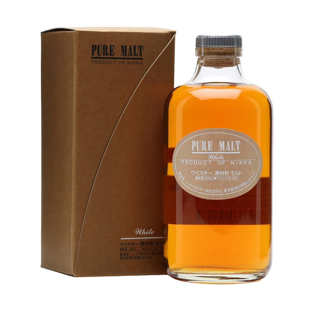 Nikka Pure White Malt Japanese Whisky - 500ml Whiskey - Drinkka Alcohol Delivery Best Whiskey Wine Gin Beer Vodkas and more for Parties in Makati BGC Fort and Manila | Bevtools Bar and Beverage Tools