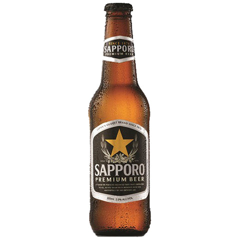Sapporo Premium Japanese Beer Bottle  - 330ml Imported Beer - Drinkka Alcohol Delivery Best Whiskey Wine Gin Beer Vodkas and more for Parties in Makati BGC Fort and Manila | Bevtools Bar and Beverage Tools