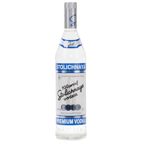 Stolichnaya Blue 100 Vodka - 750ml Premium Vodka - Drinkka Alcohol Delivery Best Whiskey Wine Gin Beer Vodkas and more for Parties in Makati BGC Fort and Manila | Bevtools Bar and Beverage Tools
