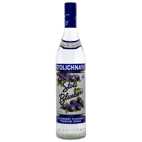 Stolichnaya Blueberi Vodka - 750ml Flavored Vodka - Drinkka Alcohol Delivery Best Whiskey Wine Gin Beer Vodkas and more for Parties in Makati BGC Fort and Manila | Bevtools Bar and Beverage Tools