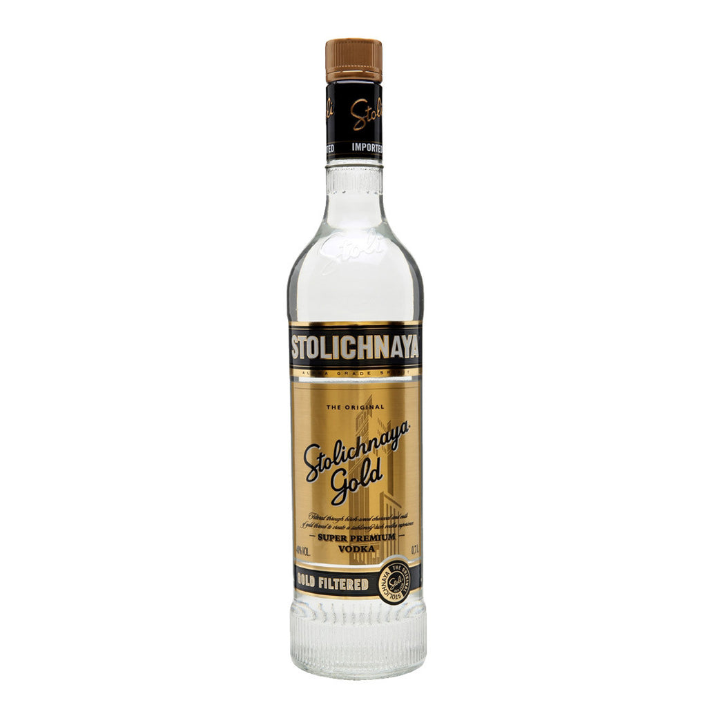 Stolichnaya Gold Vodka - 750ml Premium Vodka - Drinkka Alcohol Delivery Best Whiskey Wine Gin Beer Vodkas and more for Parties in Makati BGC Fort and Manila | Bevtools Bar and Beverage Tools