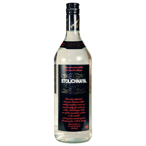 Stolichnaya Gold Vodka - 1000ml Premium Vodka - Drinkka Alcohol Delivery Best Whiskey Wine Gin Beer Vodkas and more for Parties in Makati BGC Fort and Manila | Bevtools Bar and Beverage Tools