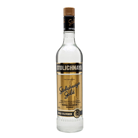 Stolichnaya Gold Vodka - 700ml Premium Vodka - Drinkka Alcohol Delivery Best Whiskey Wine Gin Beer Vodkas and more for Parties in Makati BGC Fort and Manila | Bevtools Bar and Beverage Tools