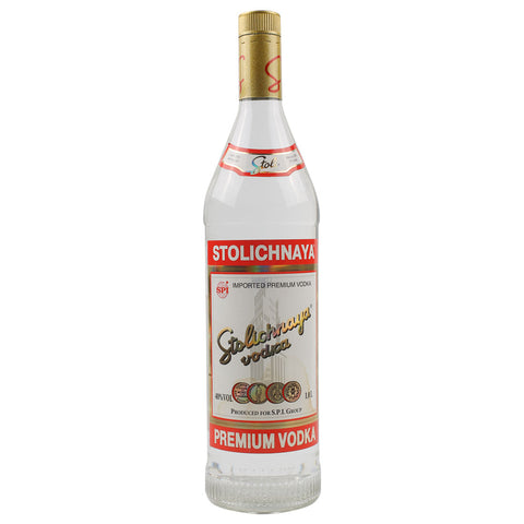 Stolichnaya Premium Vodka - 1000ml Premium Vodka - Drinkka Alcohol Delivery Best Whiskey Wine Gin Beer Vodkas and more for Parties in Makati BGC Fort and Manila | Bevtools Bar and Beverage Tools