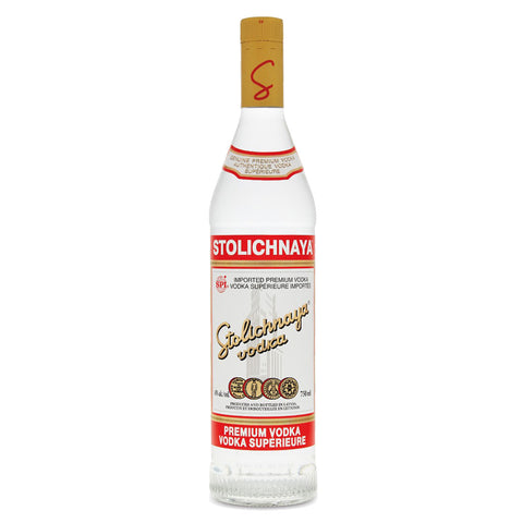 Stolichnaya Premium Vodka - 750ml Premium Vodka - Drinkka Alcohol Delivery Best Whiskey Wine Gin Beer Vodkas and more for Parties in Makati BGC Fort and Manila | Bevtools Bar and Beverage Tools
