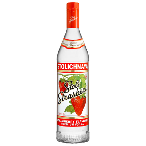 Stolichnaya Strasberri Vodka - 750ml Flavored Vodka - Drinkka Alcohol Delivery Best Whiskey Wine Gin Beer Vodkas and more for Parties in Makati BGC Fort and Manila | Bevtools Bar and Beverage Tools