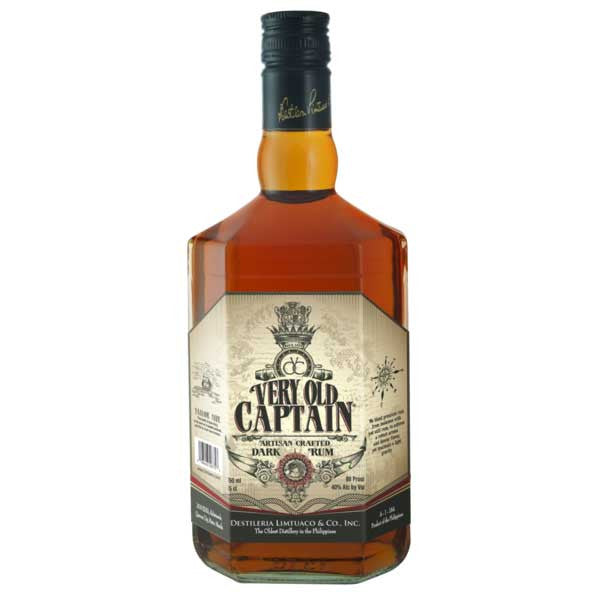 Very Old Captain Rum -750ml Rum - Drinkka Alcohol Delivery Best Whiskey Wine Gin Beer Vodkas and more for Parties in Makati BGC Fort and Manila | Bevtools Bar and Beverage Tools