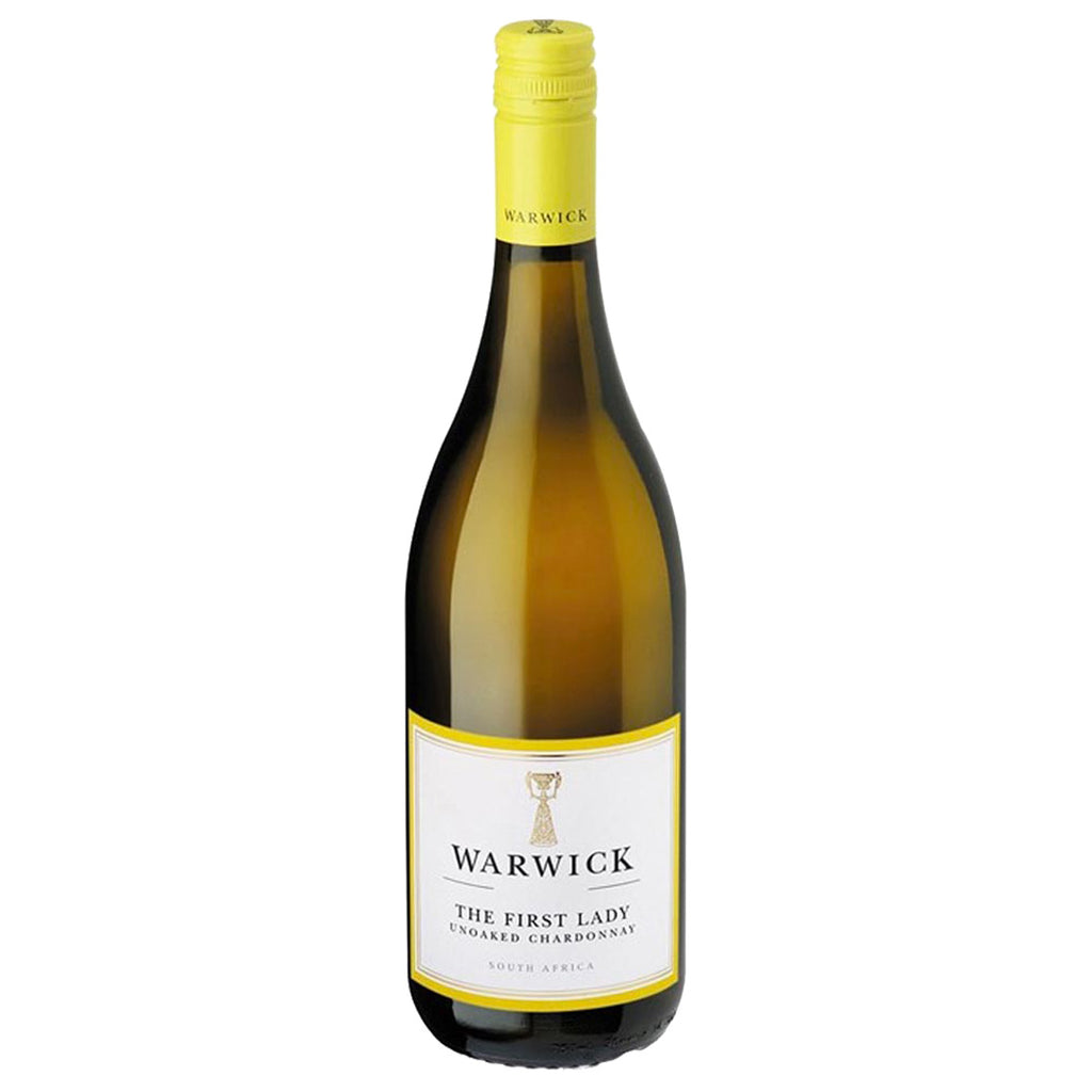Warwick First Lady Unoaked Chardonnay 2016 - 750ml White Wine - Drinkka Alcohol Delivery Best Whiskey Wine Gin Beer Vodkas and more for Parties in Makati BGC Fort and Manila | Bevtools Bar and Beverage Tools