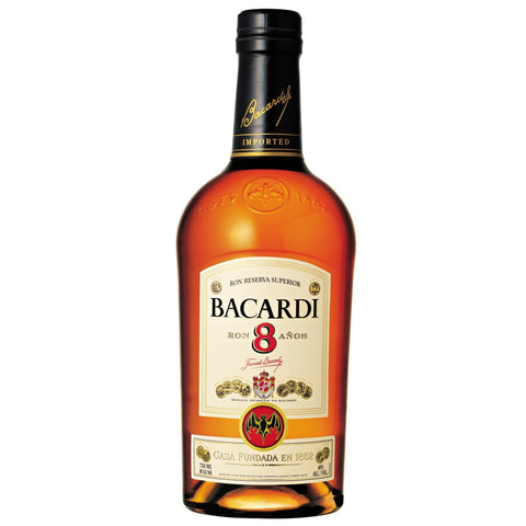 Bacardi 8 Year Old Rum - 700ml Rum - Drinkka Alcohol Delivery Best Whiskey Wine Gin Beer Vodkas and more for Parties in Makati BGC Fort and Manila | Bevtools Bar and Beverage Tools