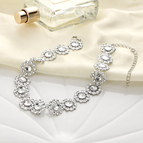 Necklace- Silver Crystal