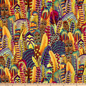 Kaffe Fassett Collective Feathers GOLD PWPJ055.Priced per 25cm