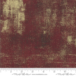 METALLIC GRUNGE Burgundy 30150 297M.Priced per 25cm.