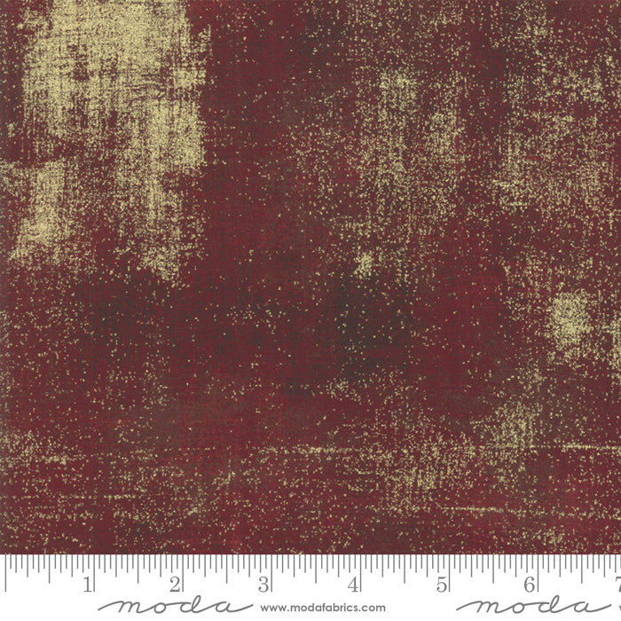 GRUNGE METALLIC by Basic Grey  30150 297M Burgundy.Priced per 25cm.